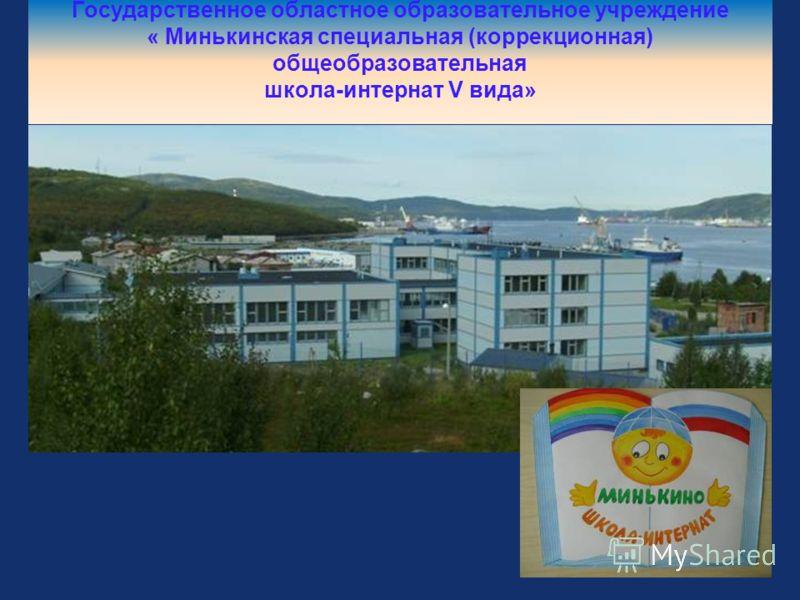 Государственное областное образовательное учреждение « Минькинская специальная (коррекционная) общеобразовательная школа-интернат V вида»