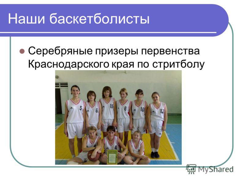 Наши баскетболисты Серебряные призеры первенства Краснодарского края по стритболу