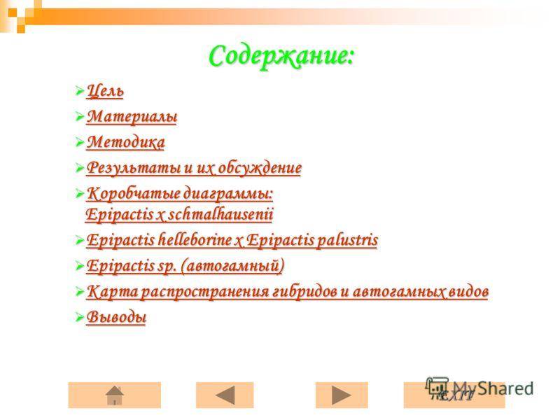 Презентация на тему РОД epipactis l zinn во флоре Беларуси  3 exit