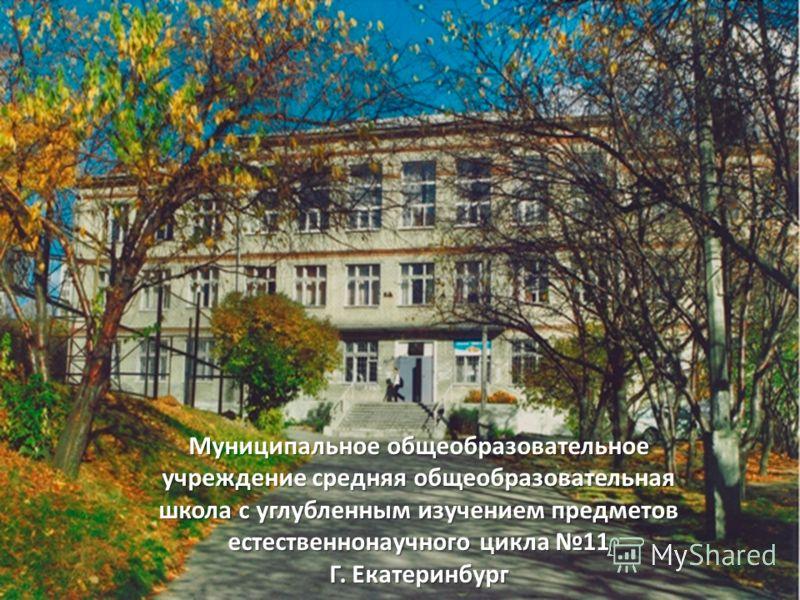 Муниципальное общеобразовательное учреждение средняя общеобразовательная школа с углубленным изучением предметов естественнонаучного цикла 11 Г. Екатеринбург