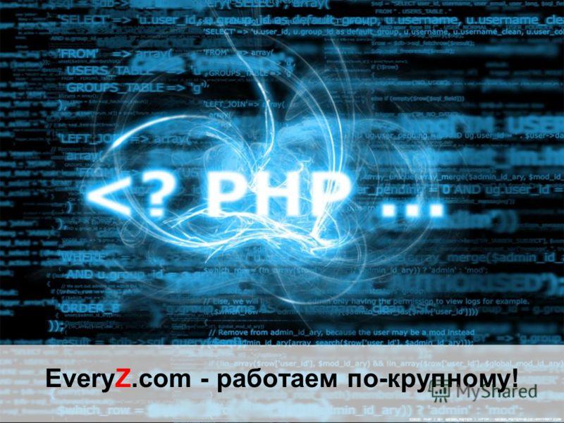 EveryZ.com - работаем по-крупному!