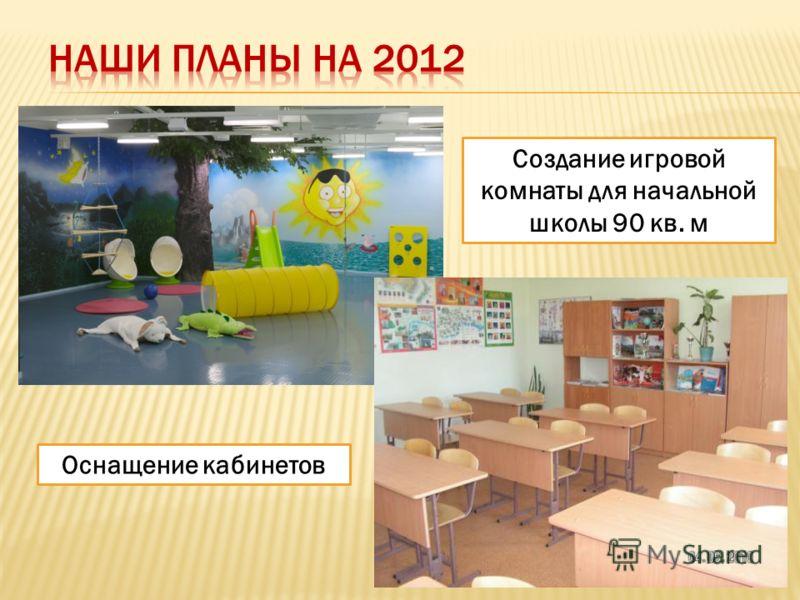 Создание игровой комнаты для начальной школы 90 кв. м Оснащение кабинетов