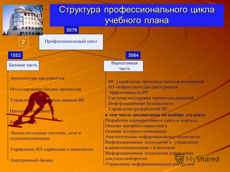Структура профессионального цикла учебного плана 5076 15523564 7