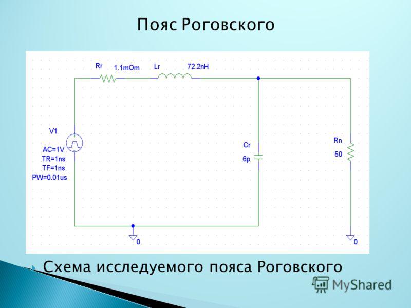 Схема исследуемого пояса Роговского