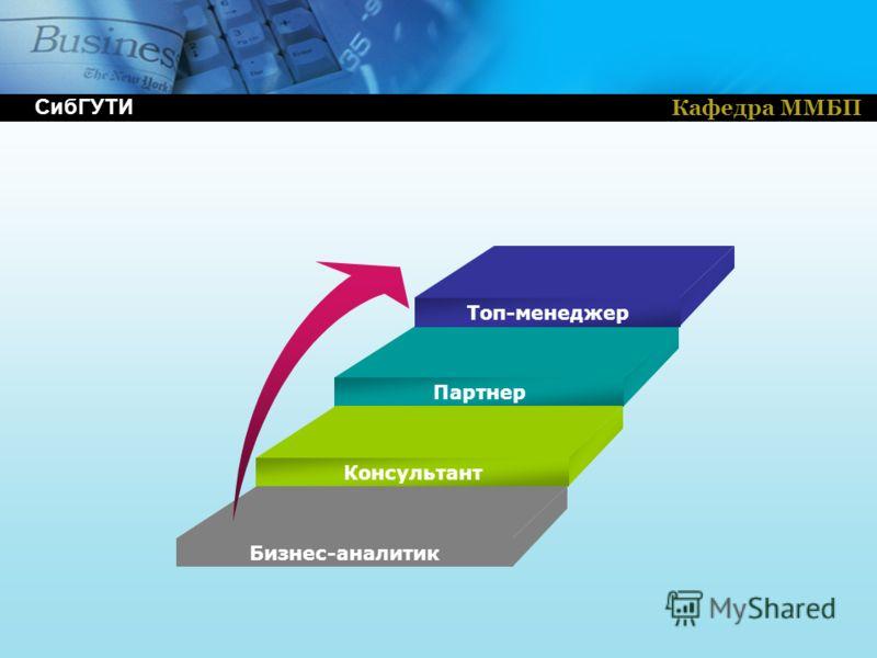 Кафедра ММБП Топ-менеджер Партнер Консультант Бизнес-аналитик СибГУТИ