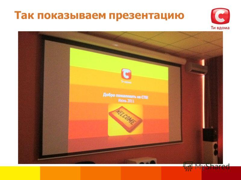 Так показываем презентацию