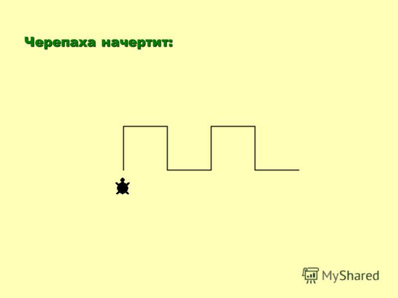 Пример 6. Какую фигуру начертит черепаха после выполнения команд: выполнения команд:по повтори 2 [вперед 50 направо 90 вперед 50 направо 90 вперед 50 налево 90 вперед 50 налево 90]