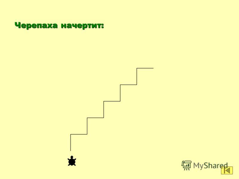 Пример 7. Какую фигуру начертит черепаха после выполнения команд: по повтори 5 [вперед 50 направо 90 вперед 50 налево 90]