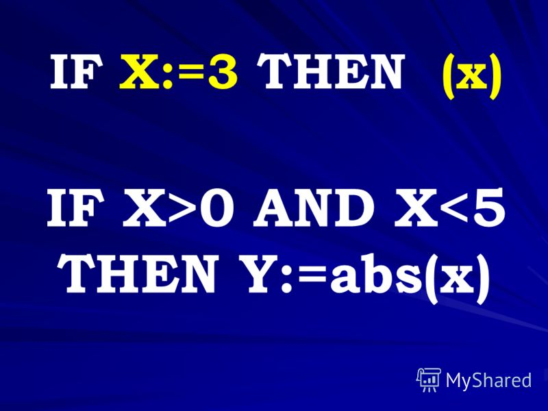 IF X>0 AND X