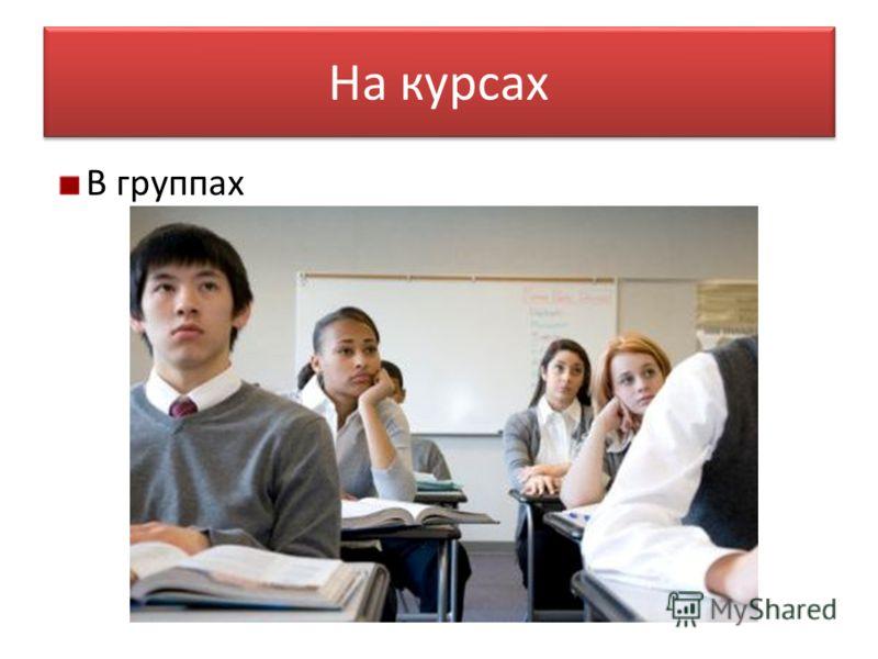 На курсах В группах