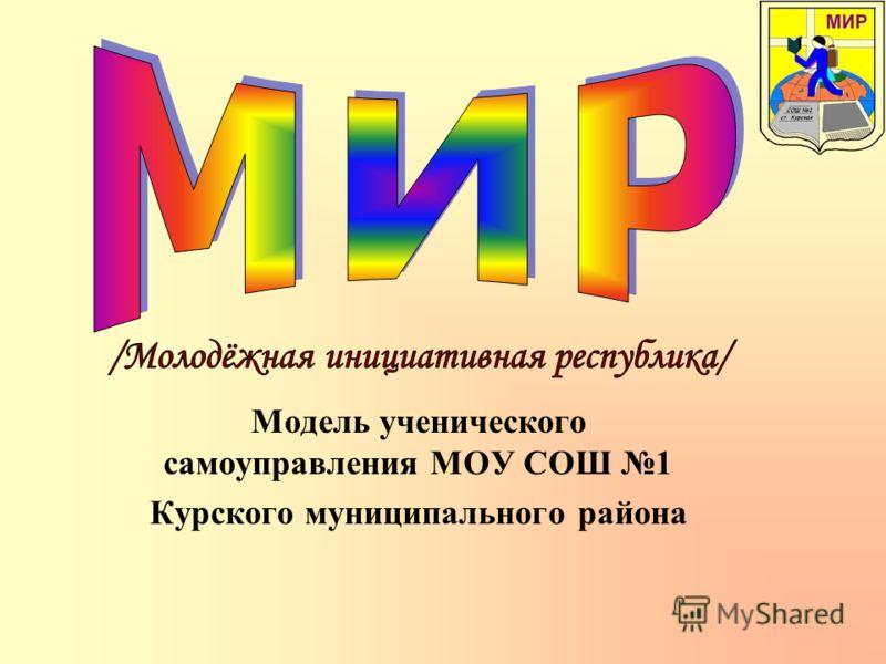 Модель ученического самоуправления МОУ СОШ 1 Курского муниципального района