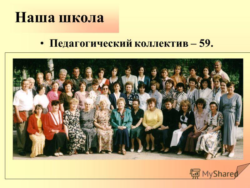 Педагогический коллектив – 59. Наша школа