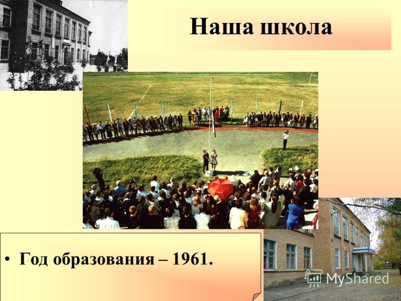 Наша школа Год образования – 1961.