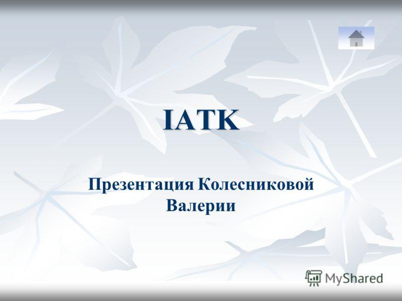 IATK Презентация Колесниковой Валерии