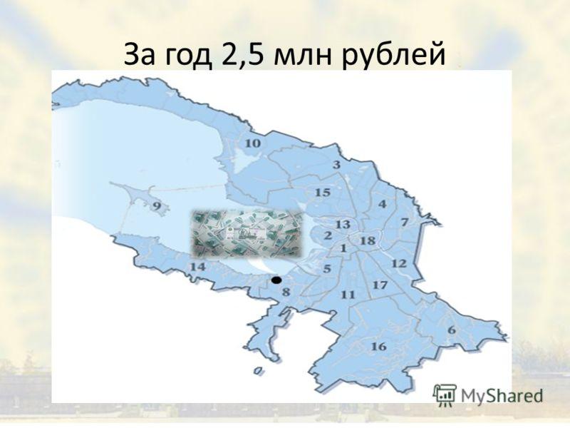 За год 2,5 млн рублей