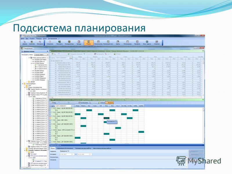Подсистема планирования