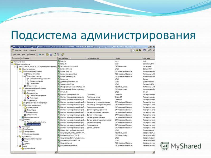 Подсистема администрирования