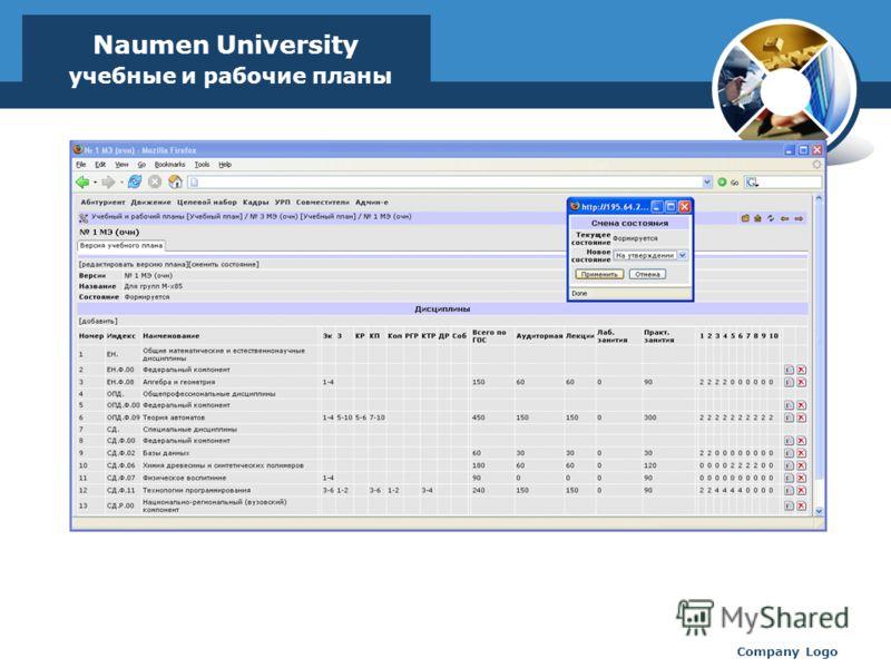 www.thmemgallery.com Company Logo Naumen University учебные и рабочие планы