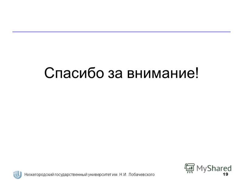 Нижегородский государственный университет им. Н.И. Лобачевского19 Спасибо за внимание!