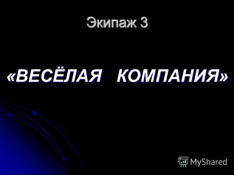 Экипаж 3 «ВЕСЁЛАЯ КОМПАНИЯ»