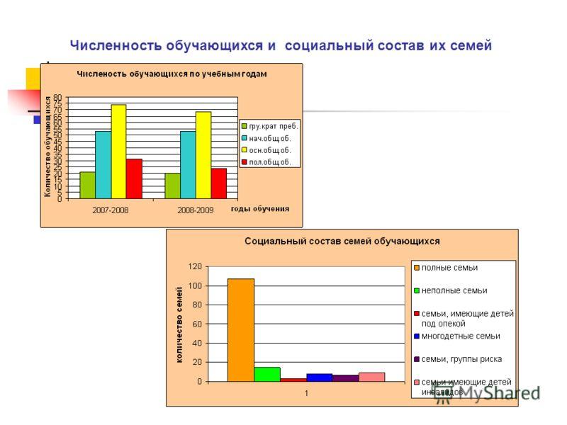 Численность обучающихся и социальный состав их семей
