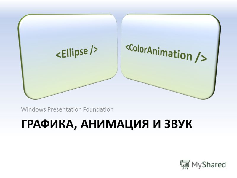 ГРАФИКА, АНИМАЦИЯ И ЗВУК Windows Presentation Foundation