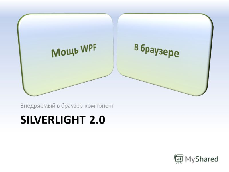SILVERLIGHT 2.0 Внедряемый в браузер компонент