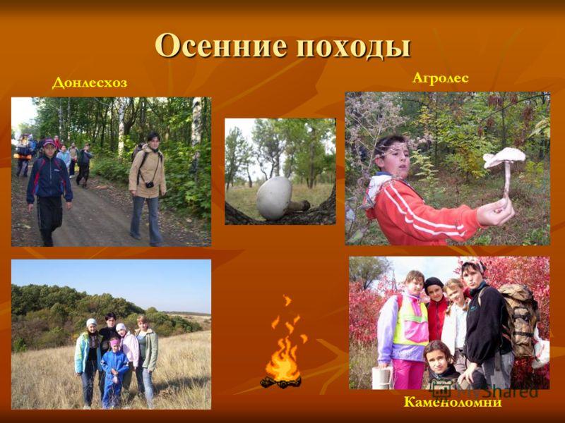 Осенние походы Донлесхоз Каменоломни Агролес