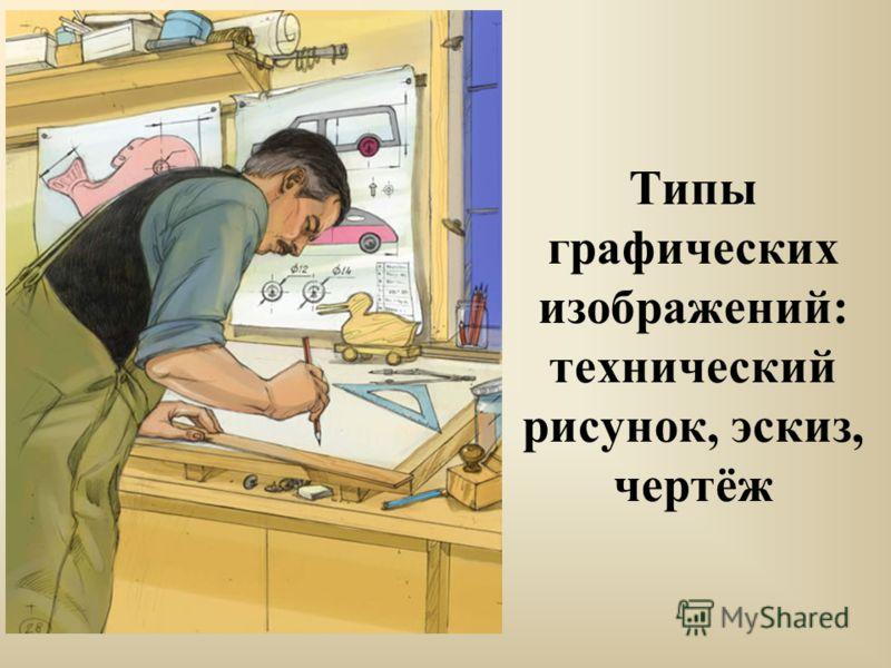Типы графических изображений: технический рисунок, эскиз, чертёж