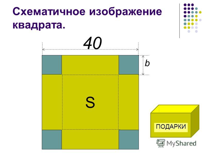 Схематичное изображение квадрата. S 40 b 3