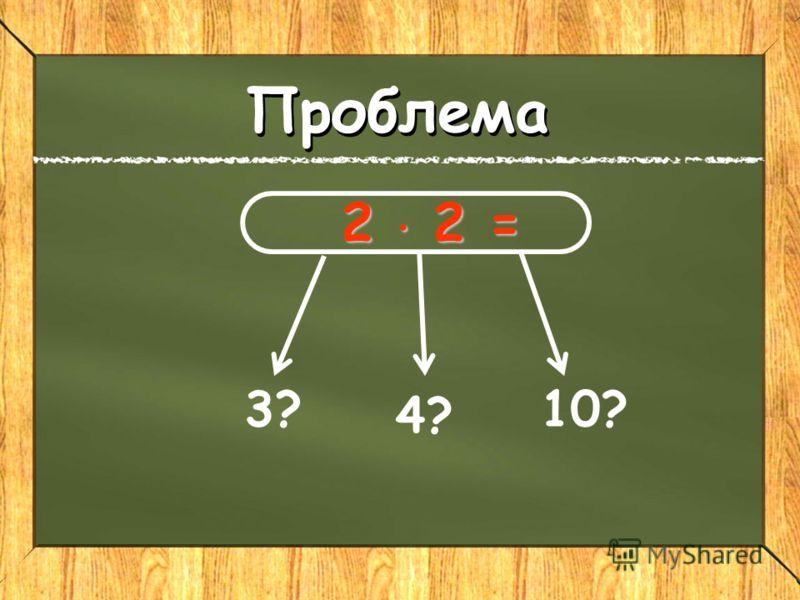 2 2 = 2 2 = 3? 4? 10? Реши проблему Проблема