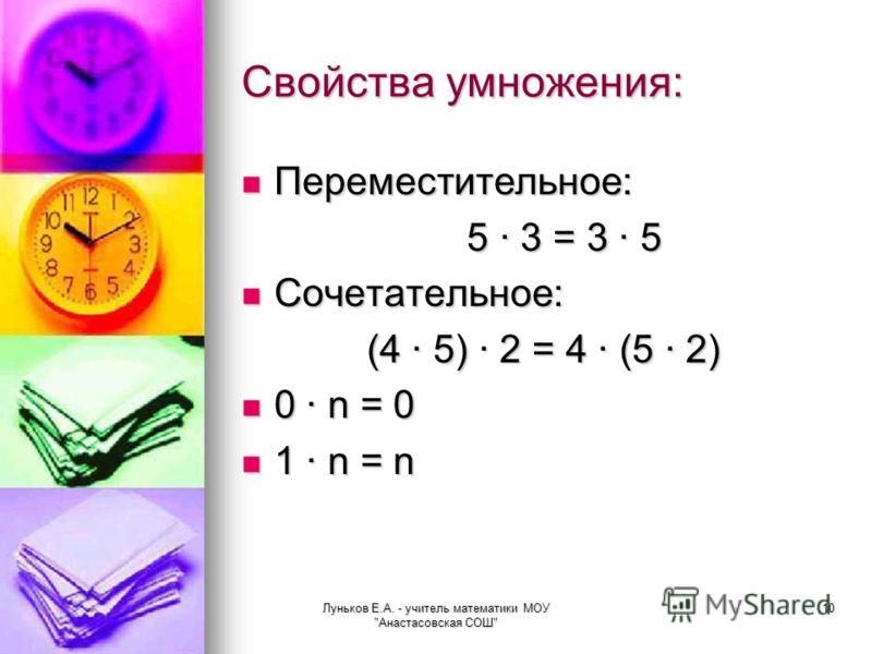 Луньков Е.А. - учитель математики МОУ