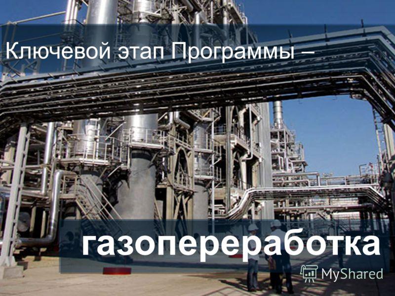 Страница 15 Ключевой этап Программы – газопереработка