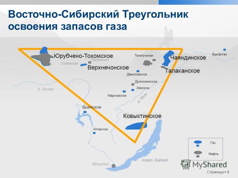 Страница 9 Восточно-Сибирский Треугольник освоения запасов газа