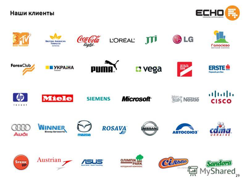 29 Наши клиенты
