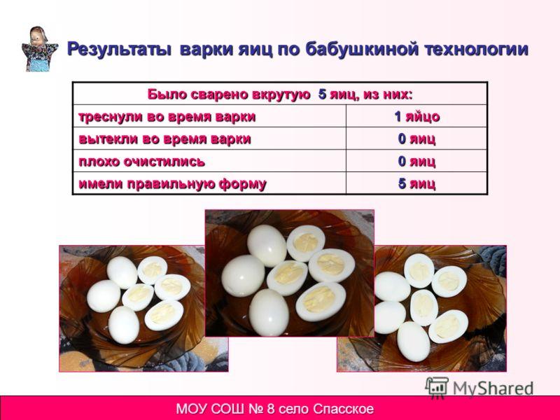 Варим яйца по бабушкиной технологии Достаем яйца из холодильника. Оставляем на некоторое время, чтобы яйца нагрелись до комнатной температуры. Кладем яйца в холодную подсоленную воду и ставим на огонь. Протыкаем у яиц «воздушный мешок» со стороны туп