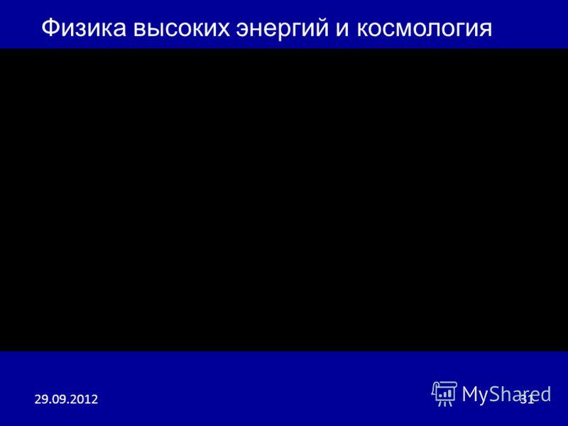 04.07.201231 Физика высоких энергий и космология