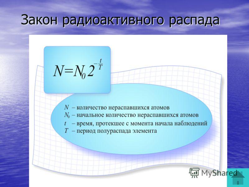 Закон радиоактивного распада