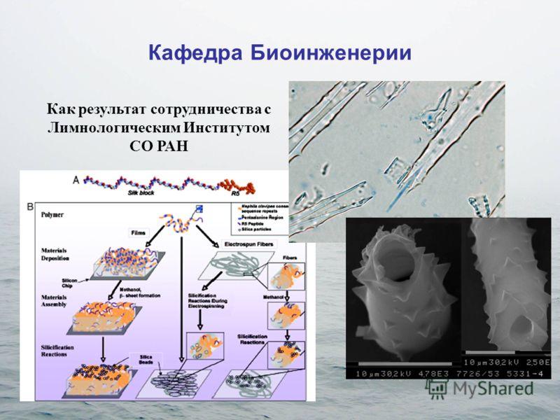Кафедра Биоинженерии Как результат сотрудничества с Лимнологическим Институтом СО РАН