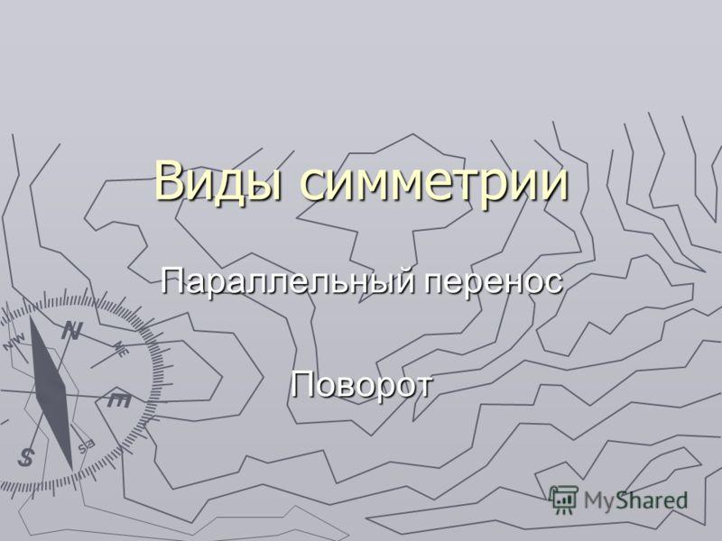 Виды симметрии Параллельный перенос Поворот