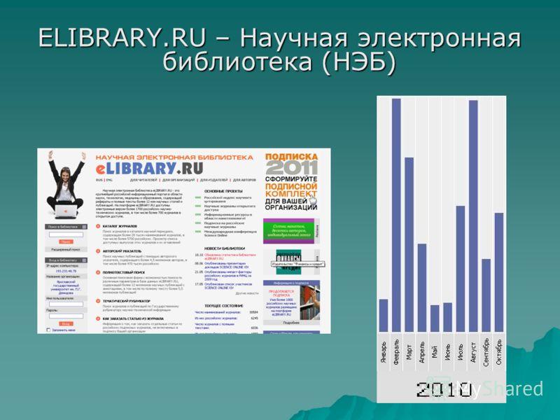 ELIBRARY.RU – Научная электронная библиотека (НЭБ)