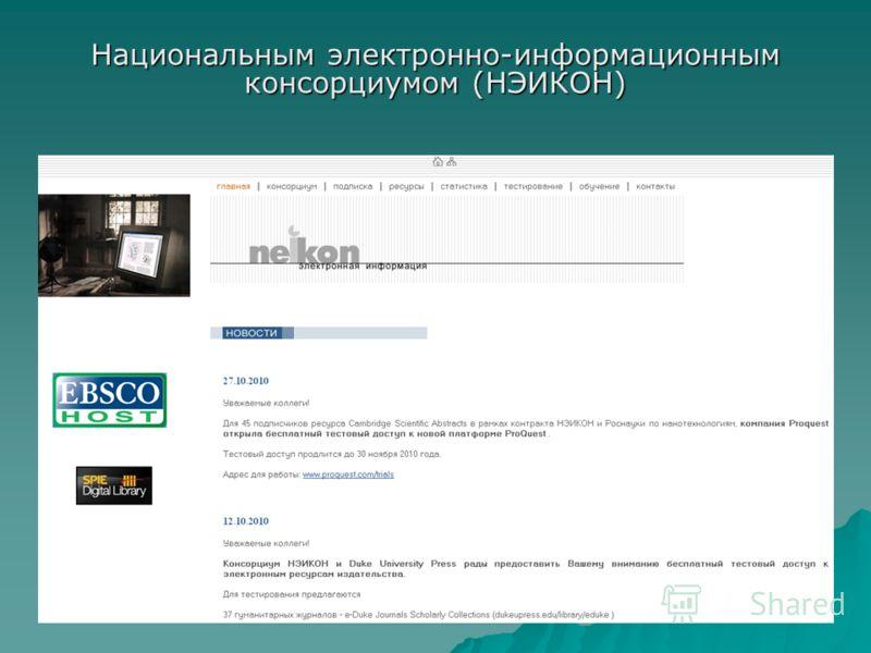Национальным электронно-информационным консорциумом (НЭИКОН)