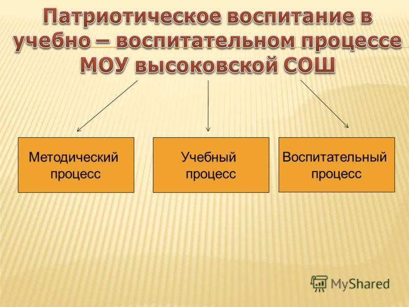 Методический процесс Учебный процесс Воспитательный процесс