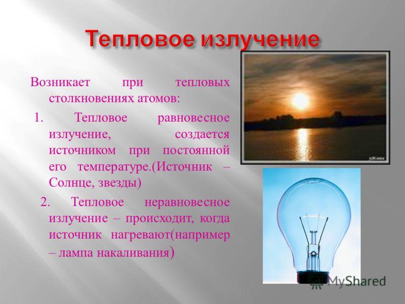 -Тепловое излучение -Люминесценция