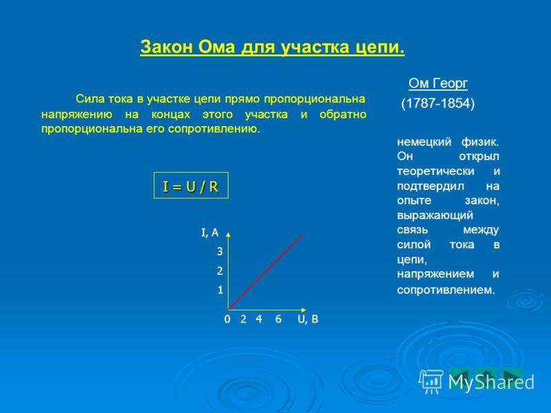 Величины, характеризующие электрический ток Название физической величины ОбозначениеЕдиницы измерения Формула для расчета Электрический зарядqКл (кулон)q = It ; q = A/U Сила токаIА (ампер)I = q/t ; I = U/R ; I = P/U НапряжениеUВ (вольт)U = A/q ; U =