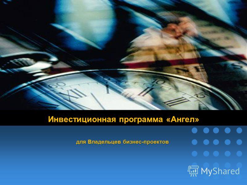 company name Инвестиционная программа «Ангел» для Владельцев бизнес-проектов