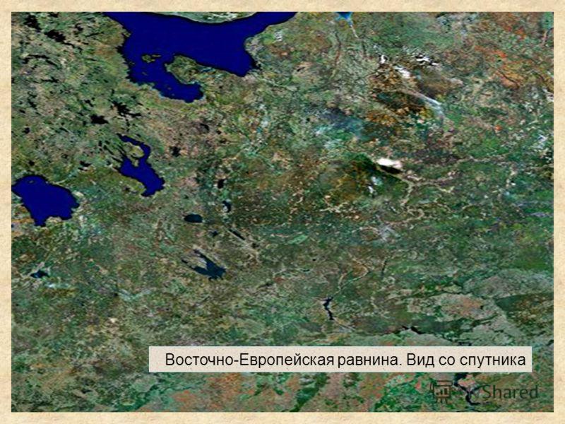 Восточно-Европейская равнина. Вид со спутника