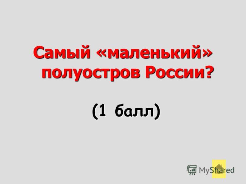 Самый «маленький» полуостров России? (1 балл)
