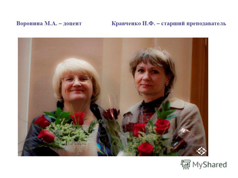 Воронина М.А. – доцентКравченко И.Ф. – старший преподаватель