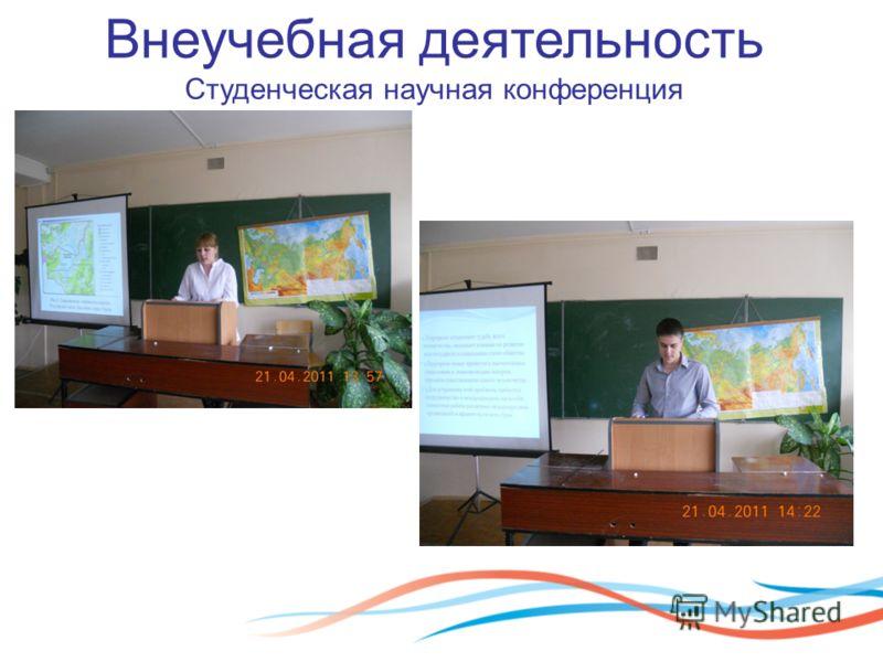 Внеучебная деятельность Студенческая научная конференция